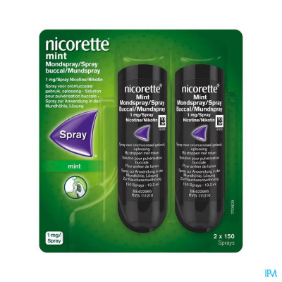 Nicorette Mint Mondspray 2x150 Sprays 1mg/spray