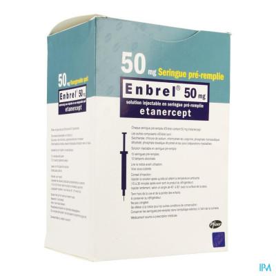 Enbrel 50mg Opl Opl Voorgevulde Spuit 12 X 1ml