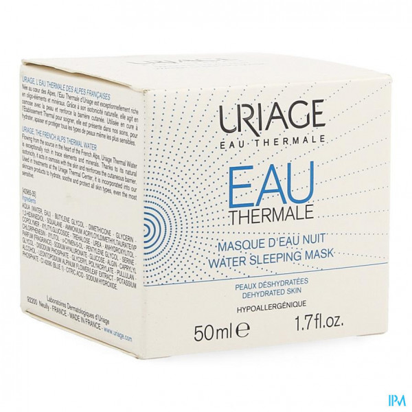 Uriage Eau Thermale Masker Water Nacht 50ml